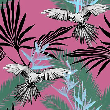 Tropical jungle pink by Lelyely