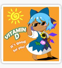 Vitamin D Tanned Cirno Sticker