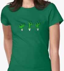 Cactuses in Space Womens Fitted T-Shirt