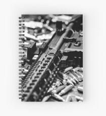Rifle In Ammo Spiral Notebook