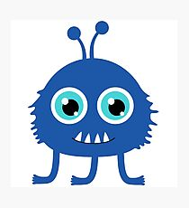 Cute and funny cartoon monster Photographic Print