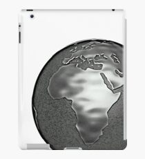 Black and white planet earth  iPad Case/Skin