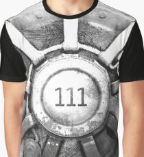 Fallout 4 Vault 111 Door Drawing Graphic T-Shirt