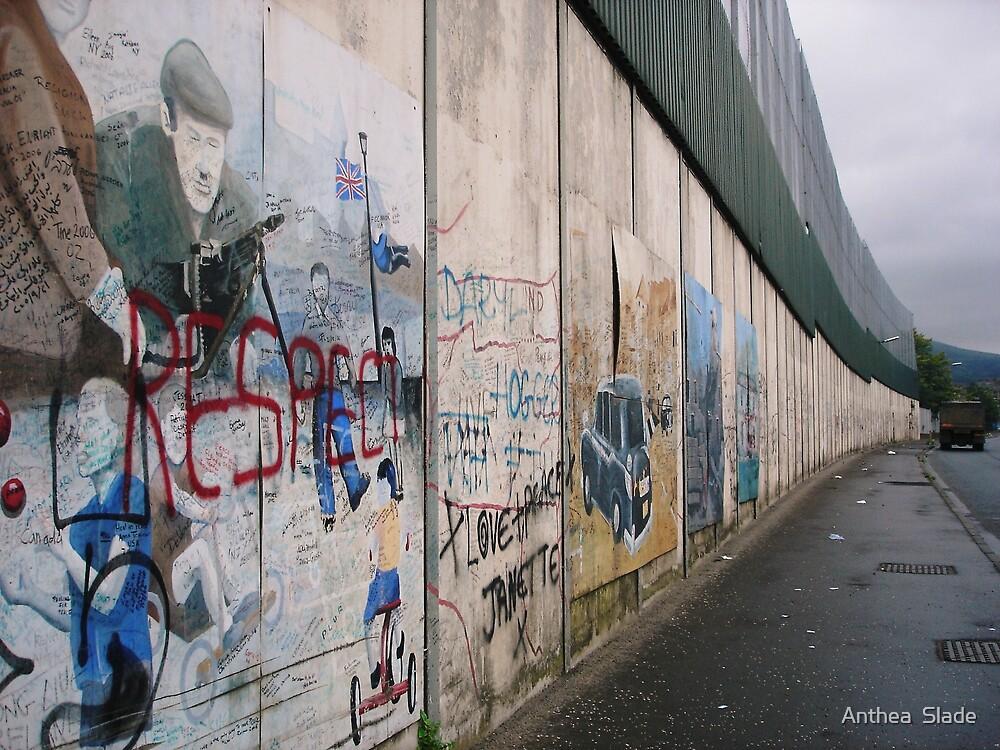 The Wall in Belfast, Ireland by Anthea  Slade
