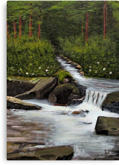 STREAMS OF LIVING WATER, Acrylic Painting, for prints and products by Bob Hall©