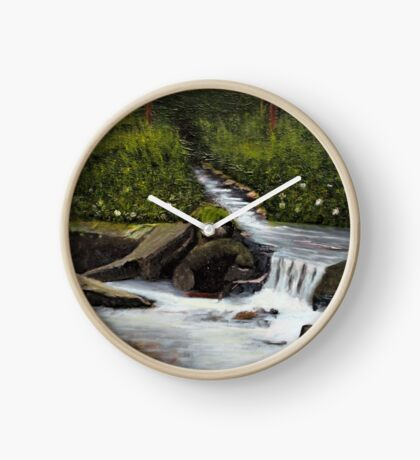 STREAMS OF LIVING WATER, Acrylic Painting, for prints and products Clock