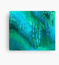 Psychedelic Forest (blue-green) Canvas Print