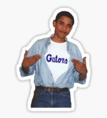 Obama Says Go Gators Sticker