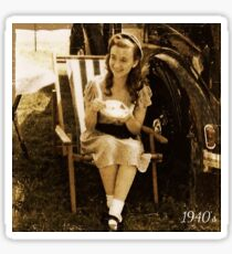 WW2 girl Sticker