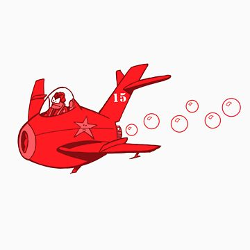 little red mig 15 by johnkratovil