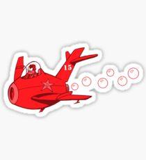 little red mig 15 Sticker