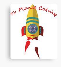 Cat - To Planet Catnip Canvas Print