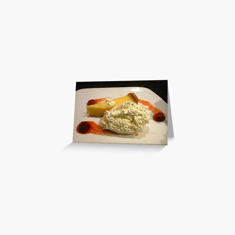Lemon Pie with Whipped Cream Grußkarte