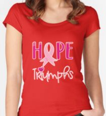 Hope Triumphs Breast Cancer Survivors Day 2017 Women's Fitted Scoop T-Shirt