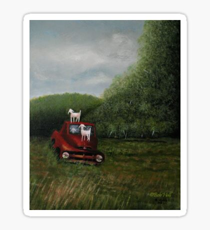 PLAYTIME, Acrylic Painting, for prints and products  Sticker