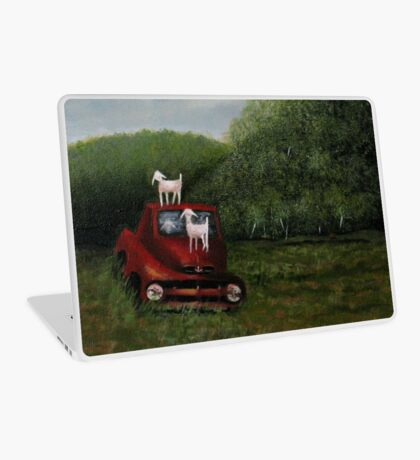PLAYTIME, Acrylic Painting, for prints and products  Laptop Skin