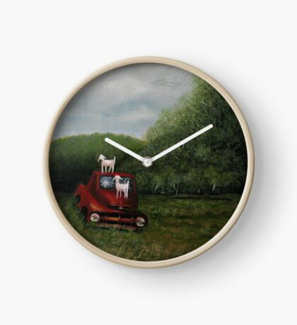 PLAYTIME, Acrylic Painting, for prints and products  Clock