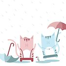 Traveling Tabbies: Play in the Rain by Jess Emery