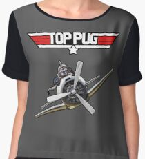 Top Pug  Women's Chiffon Top