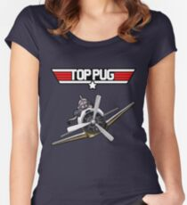 Top Pug  Women's Fitted Scoop T-Shirt