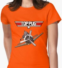 Top Pug  Womens Fitted T-Shirt