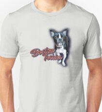 blue halo boston terrier Unisex T-Shirt