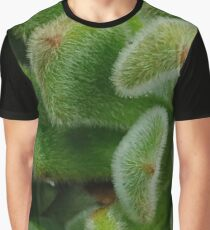 fuzzy green cactus Graphic T-Shirt