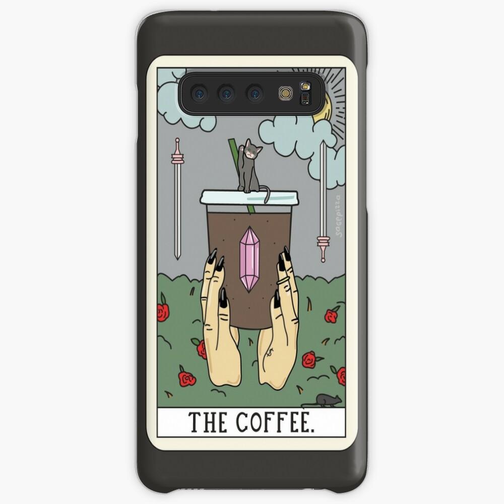 (Schwarz) Kaffee lesen Hülle & Klebefolie für Samsung Galaxy