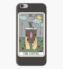 Vinilo o funda para iPhone (Negro) Lectura de café