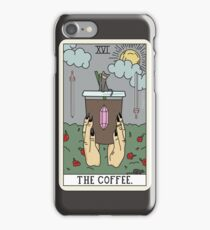 (Black) Coffee Reading iPhone Case/Skin