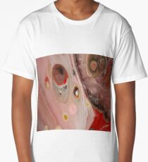 pink and red moon craters Long T-Shirt