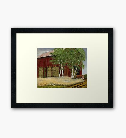 """""""Old Man Walker's Barn""""... prints and products Framed Print"""