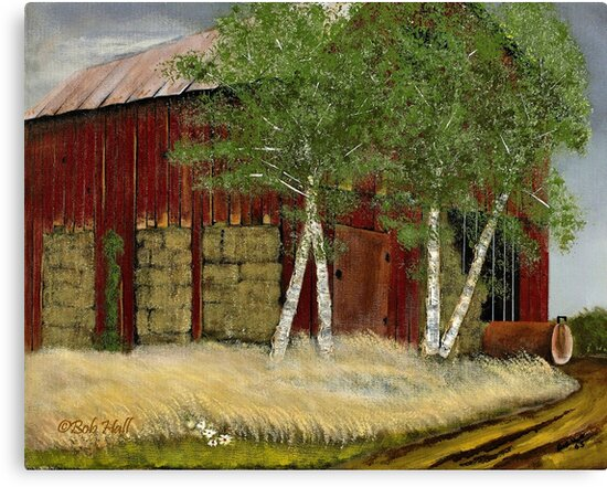 """Old Man Walker's Barn""... prints and products by Bob Hall©"