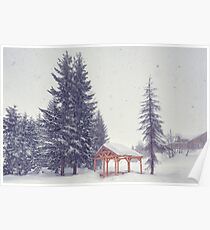 Peaceful Snowy Day Poster