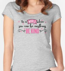 Kindness Design Women's Fitted Scoop T-Shirt