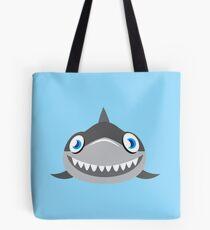 cute happy shark face Tote Bag
