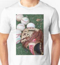 Baseball glove and balls Unisex T-Shirt