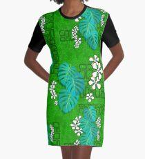 Vestido camiseta Tiki Garden Wall - verde