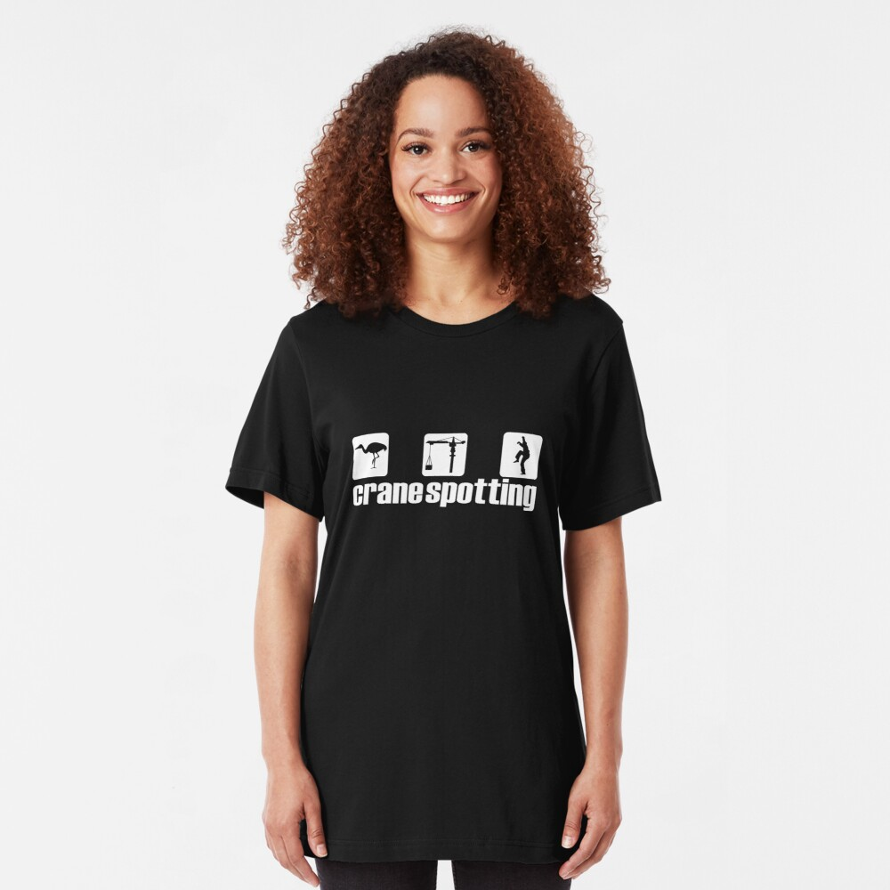 Crane Spotting (Trainspotting Spoof) Slim Fit T-Shirt