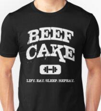 Beef Cake - Lift, Eat, Sleep, Repeat T-Shirt