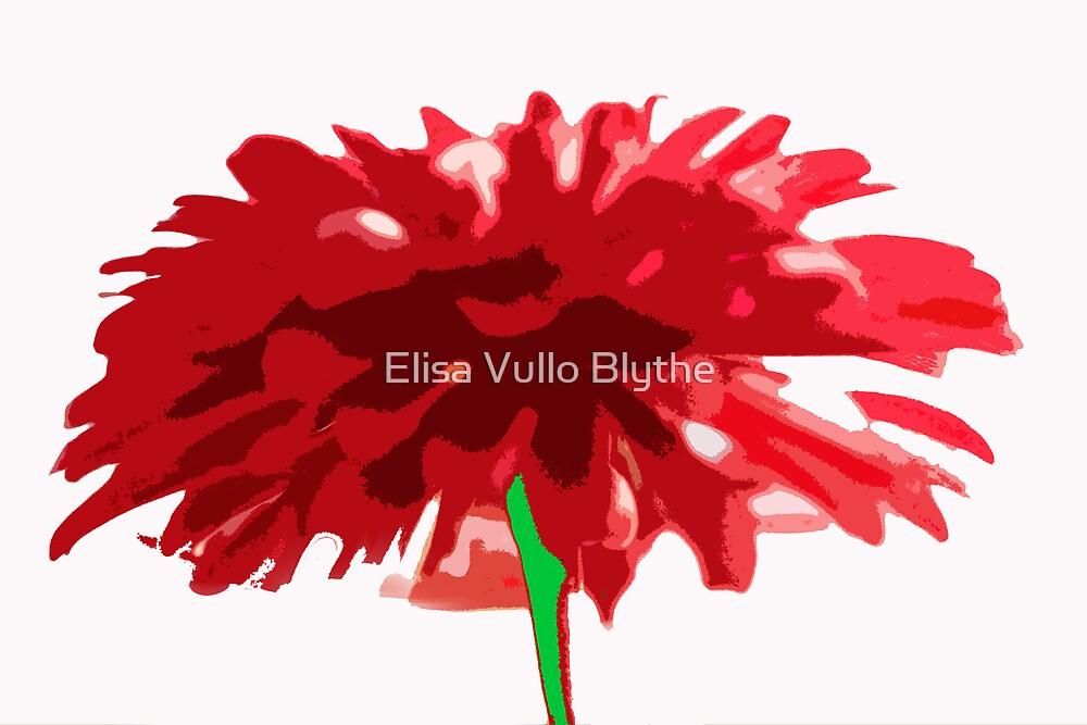 Red Zinnia by Elisa Vullo Blythe