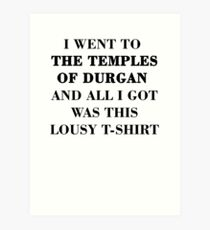 Temples of Durgan Art Print