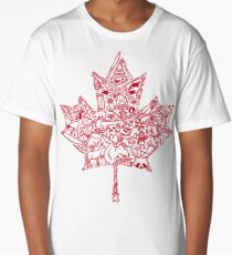 Maple Leaf - red Long T-Shirt