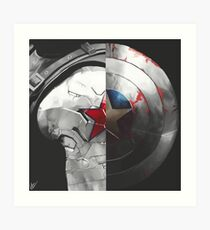 The Shield and the Soldier Art Print