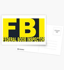 FBI - Federal Boob Inspector Postcards