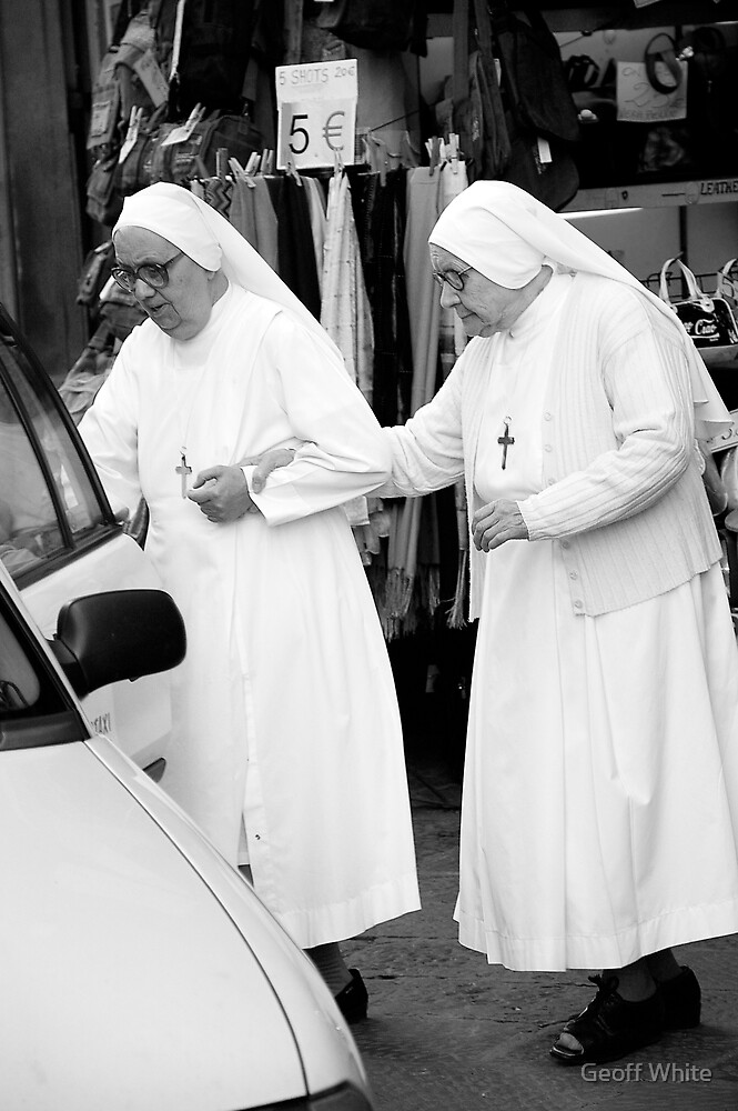 Two Nuns by Geoff White