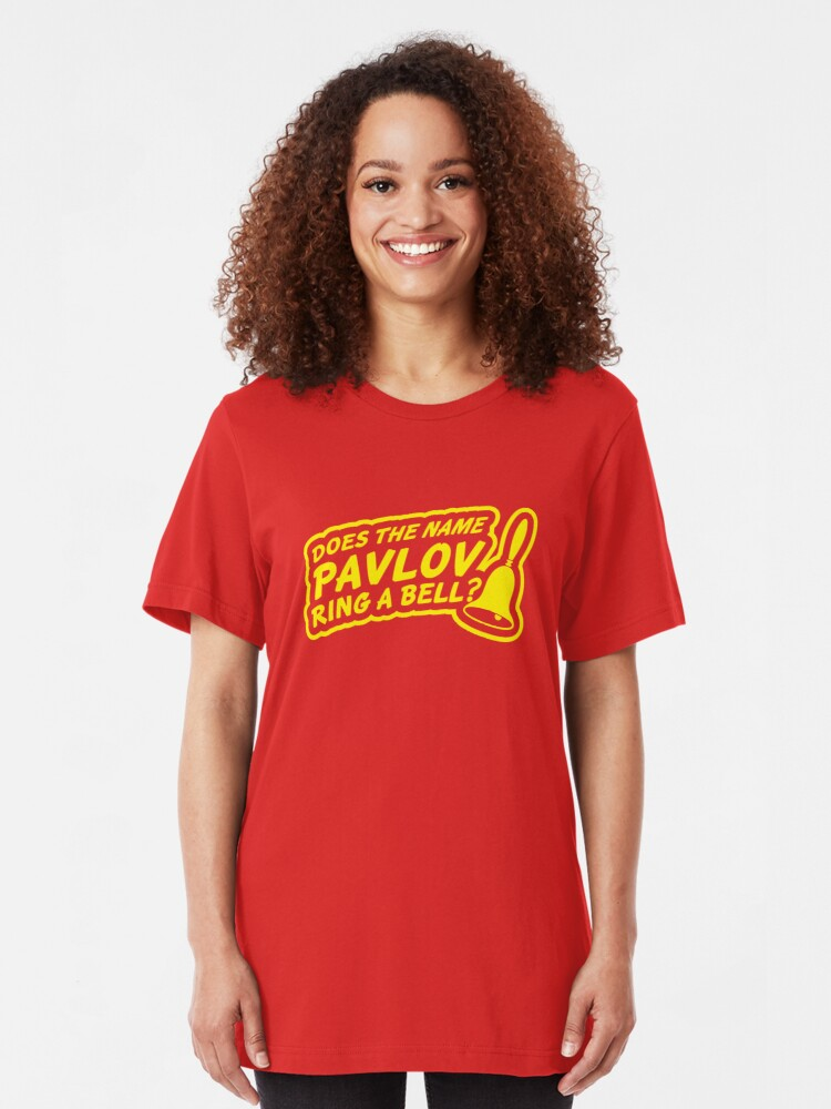 Alternate view of Does the Name Pavlov Ring a Bell? Slim Fit T-Shirt