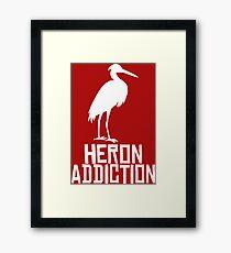 Heron Addiction Framed Print