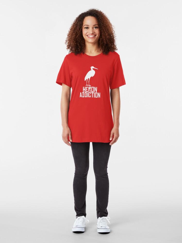 Alternate view of Heron Addiction Slim Fit T-Shirt