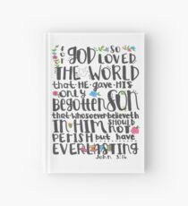 Bible Verse - John 3:16 Hardcover Journal